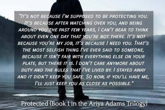 Protected (Book 1 in the Ariya Adams Trilogy) Teaser 1