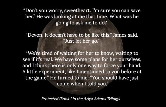 Protected (Book 1 in the Ariya Adams Trilogy) Teaser 2